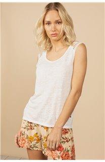 T-Shirt Top SALLY Femme S21162W (60926) - DEELUXE