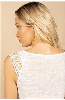T-Shirt Top SALLY Femme S21162W (60927) - DEELUXE