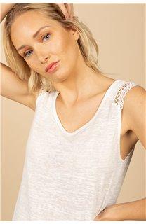 T-Shirt Top SALLY Femme S21162W (60928) - DEELUXE