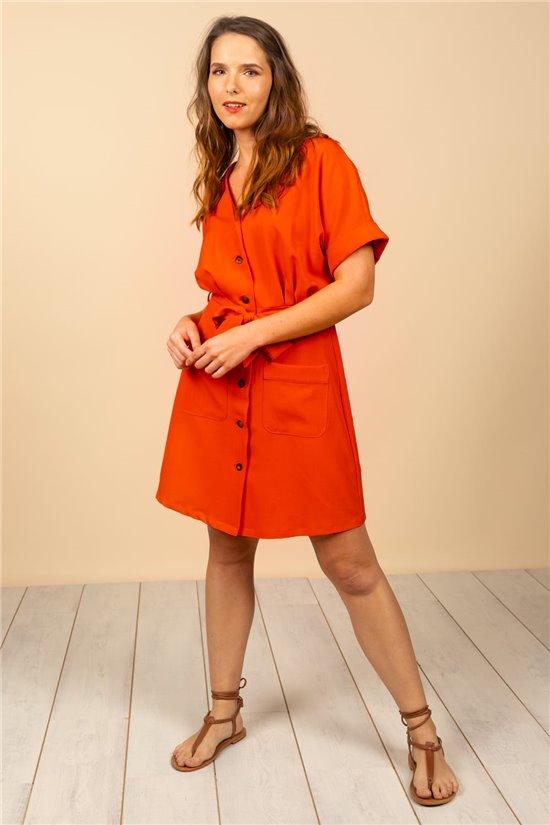 Robe Robe GEORGIE Femme S21202W (61013) - DEELUXE