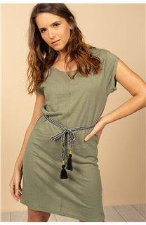 Robe Robe TIME Femme S21212W (61033) - DEELUXE