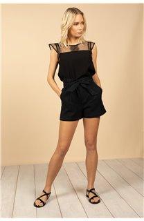 Blouse Blouse SUE Femme S21406W (61134) - DEELUXE
