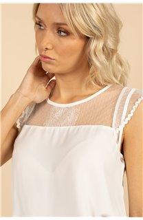 Blouse Blouse SUE Femme S21406W (61142) - DEELUXE