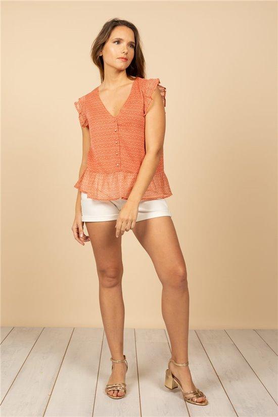 Blouse Blouse MELINDA Femme S21412W (61153) - DEELUXE