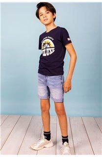 T-Shirt T-Shirt PARTY Garçon S21174B (61410) - DEELUXE