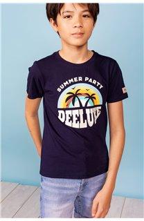 T-Shirt T-Shirt PARTY Garçon S21174B (61411) - DEELUXE