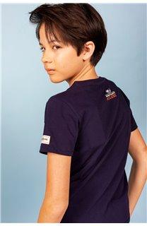 T-Shirt T-Shirt PARTY Garçon S21174B (61412) - DEELUXE
