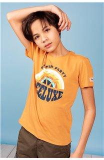 T-Shirt T-Shirt PARTY Garçon S21174B (61414) - DEELUXE