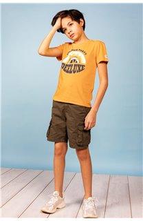 T-Shirt T-Shirt PARTY Garçon S21174B (61415) - DEELUXE