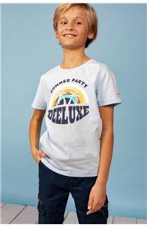 T-Shirt T-Shirt PARTY Garçon S21174B (61420) - DEELUXE