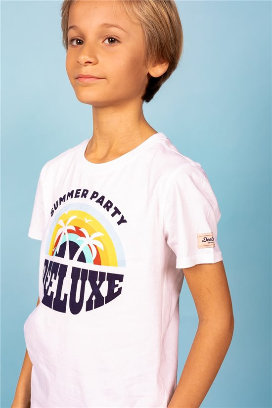 T-Shirt T-Shirt PARTY Garçon S21174B (61409) - DEELUXE