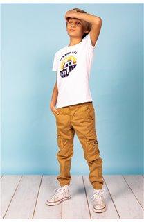 T-Shirt T-Shirt PARTY Garçon S21174B (61424) - DEELUXE