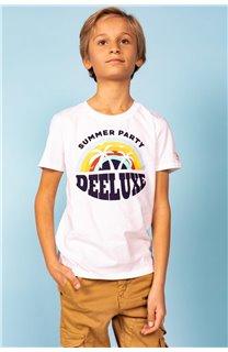 T-Shirt T-Shirt PARTY Garçon S21174B (61425) - DEELUXE