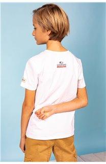 T-Shirt T-Shirt PARTY Garçon S21174B (61426) - DEELUXE