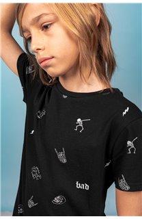 T-Shirt T-SHIRT NOTSORRY Garçon W19108B (62891) - DEELUXE
