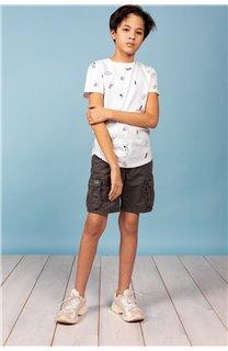 T-Shirt T-SHIRT NOTSORRY Garçon W19108B (62893) - DEELUXE