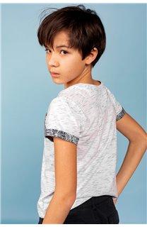 T-Shirt T-Shirt SHAMAR Garçon S20195B (62913) - DEELUXE