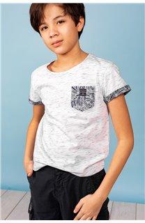 T-Shirt T-Shirt SHAMAR Garçon S20195B (62914) - DEELUXE