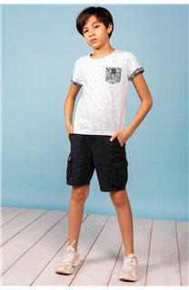 T-Shirt T-Shirt SHAMAR Garçon S20195B (62915) - DEELUXE