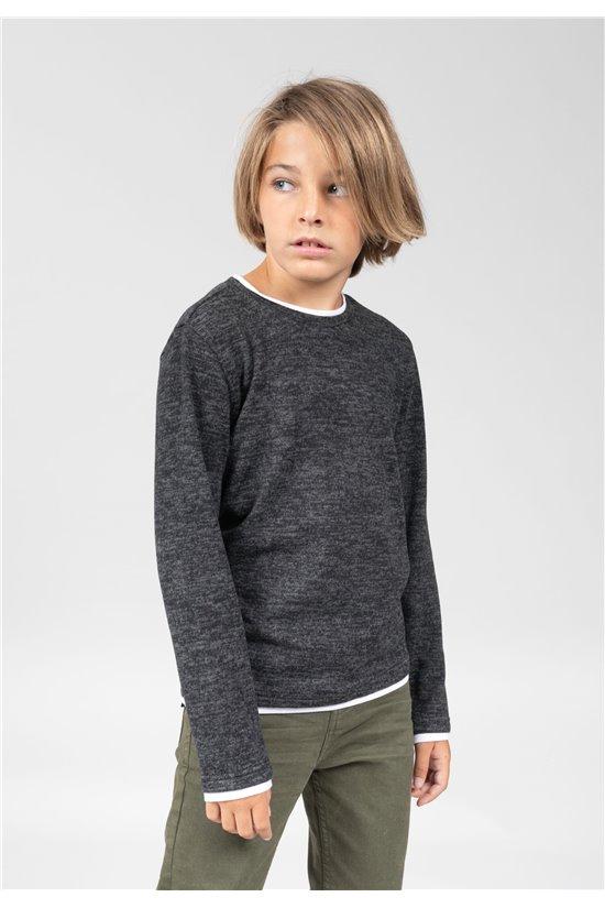 T-Shirt T-Shirt MONAN Garçon 01V189B (66163) - DEELUXE