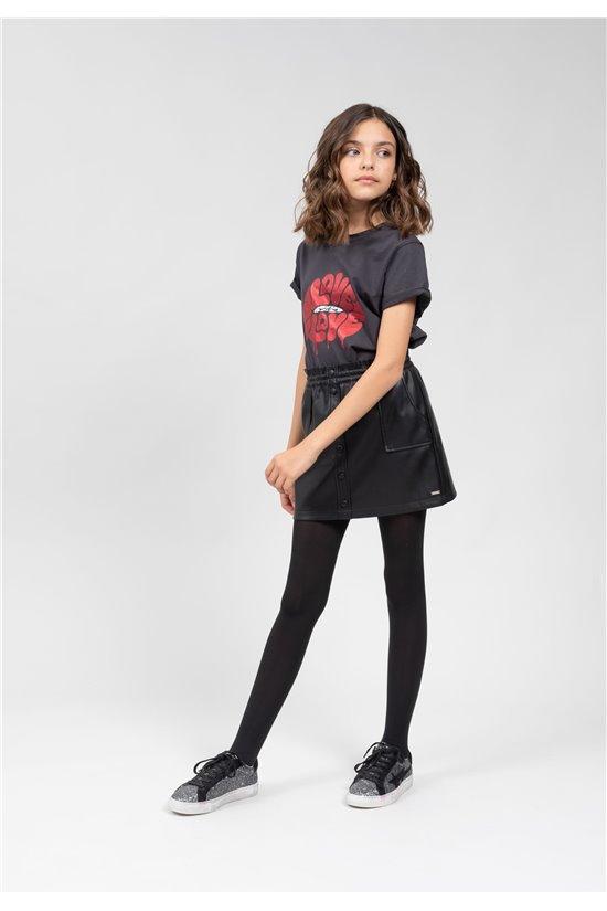 T-Shirt T-Shirt LOVELY Fille 01V142G (67369) - DEELUXE