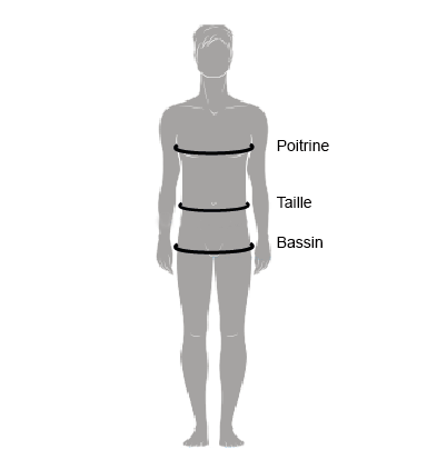 guide des tailles homme Deeluxe